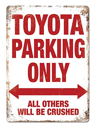 Kia Haop TOYOTA PARKING ALLEEN Metalen Fender Tin Sign Plaque Art Poster Muursticker Decoratie