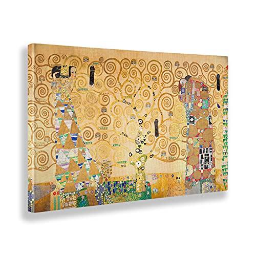 Giallobus - Cuadro - Gustav Klimt - El arbol de la Vida - Lienzo - 140x80 - Listo para Colgar - Cuadros Modernos para el hogar