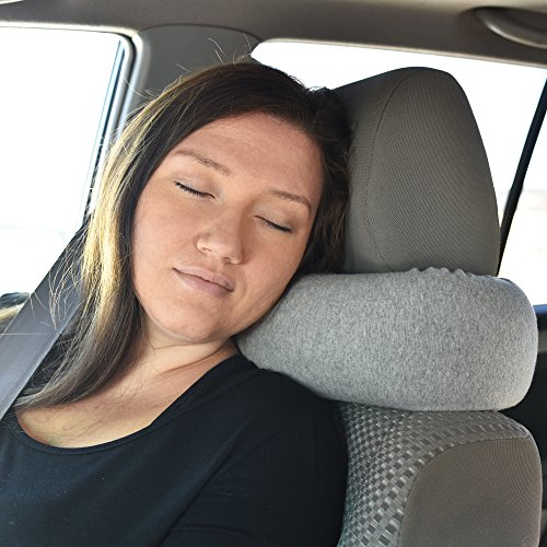 510UlMbITJL - Twist Memory Foam Travel Pillow for Neck, Chin, Lumbar and Leg Support - For Traveling on Airplane, Bus, Train or at Home - Best for Side, Stomach and Back Sleepers - Adjustable, Bendable Roll Pillow