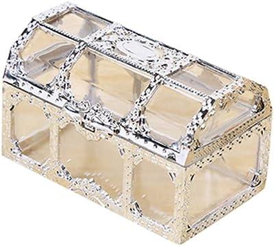 Jiacheng29_ Caja de Almacenamiento Transparente Vintage para Guardar Joyas y Caramelos: Amazon.es: Hogar