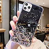 Cocomii Glitter Clear iPhone 12 PRO Max Custodia, Sottile Lucido Morbido TPU Silicone Scintillante Paillettes Bling Case Bumper Cover Paraurti Compatible with Apple iPhone 12 PRO Max 6.7' (Black)