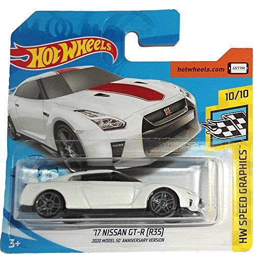 Hot Wheels \'17 Nissan GT-R (R35) 50 Anniversary HW Speed Graphics 10/10