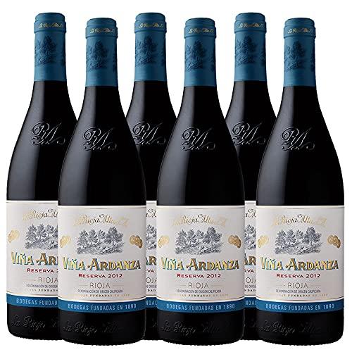 Vino tinto Viña Ardanza Reserva de 75 cl - D.O. La Rioja - Bodegas La Rioja Alta (Pack de 6 botellas)