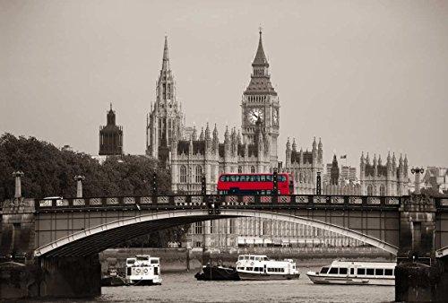 LONDON BUS 4x2,70m Panorama Mural Mural Mural Mural Mural XXL Kwaliteit HD Scenolia