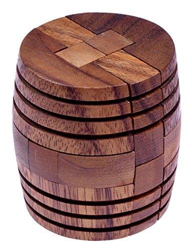 LOGOPLAY Barrel - Fass - 3D Puzzle - Denkspiel - Knobelspiel - Geduldspiel - Logikspiel aus Holz