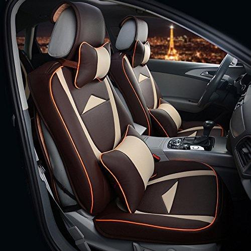 AMYMGLL Coussin en cuir Général voiture couverture de haute qualité de luxe (12set) Case Universal édition Eco voiture Four Seasons Universal 4 Couleurs options ,  32
