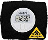 CoolFire Vibrating Alarm Clock - Silent Alarm Wristband Vibrating Alarm Watch. Silent Wrist Shock Alarm Clock. Vibration Alarm Bracelet, Alarm Clock for Sleepers & Smart Alarm Clock USB (Black)