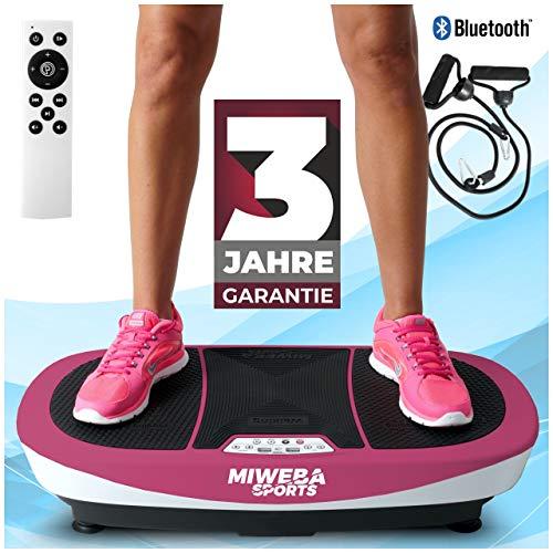 Miweba Sports Fitness Vibrationsplatte MV200 – 3 Vibrationsmodi – Horizontal – Vertikal – Oszillierend – 400 Watt (Pink)
