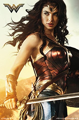 Trends International Wonder Woman Shield Wall Poster, 22.375' x 34'