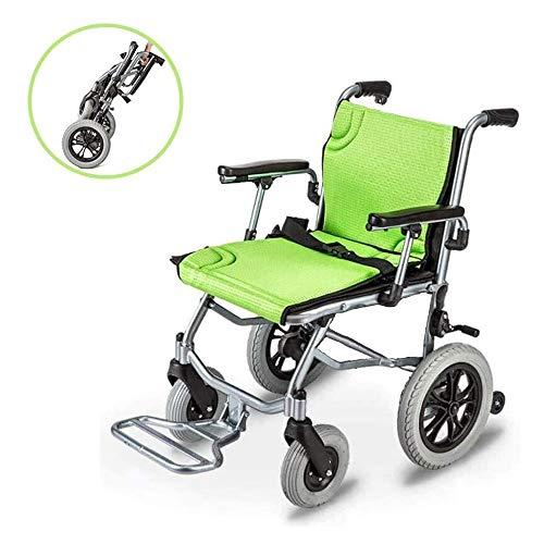 GJHW Rollstuhl,Leicht Klapprollstuhl Zusammenklappbar und Behinderte Menschen,Enthält Keine Batterie,Ohne Steuerung
