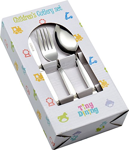 Tiny Dining 36 Piece Kids Infants Children's Junior Cutlery Set (12 Small Table Knives, 12 Small Table Forks, 12 Small Dessert Spoons)