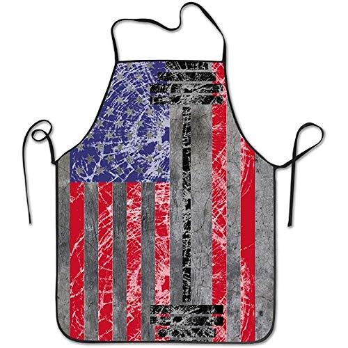 Myrdora Gym Fitness Levantamiento de Pesas Delantal con Peto de Levantamiento con Bandera Americana