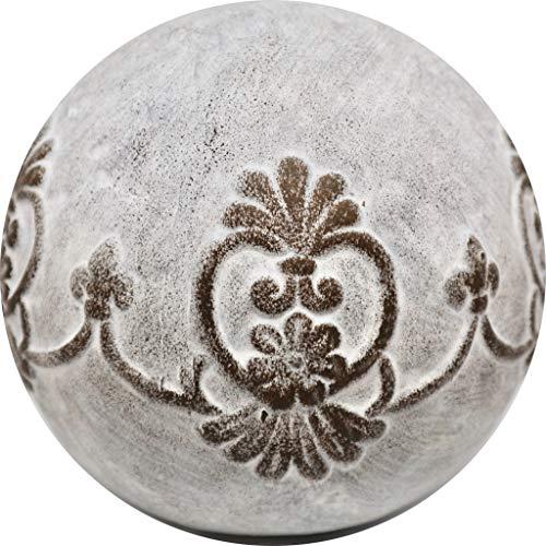 Homestyle & more Kugel Rosina Ornament Terrakotta grau