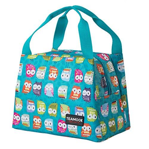 Sac Isotherme, Portable,étanche et réutilisable,Sac Repas Sac à Lunch Multi Usages Lunch Bag 7L (Hibou Vert)