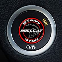 Moto Badge Hellcat Push Start Button Overlay for Dodge Challenger and Charger (Red 216)