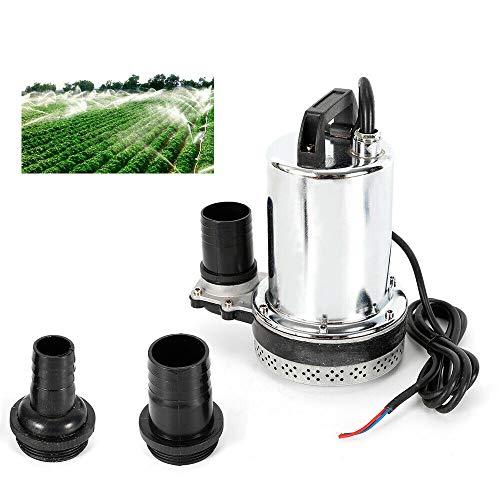 Preisvergleich Produktbild Tauchpumpe HaroldDol Hochleistungs Wasserpumpe 180W 6000L / H 12V,  Fischzucht Bauernhof Pumpen Edelstahl,  Förderhöhe 10m