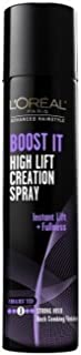 L'Oreal Advanced Hairstyle Boost It High Lift Creation Spray Strong Hold 5.30 oz (Pack of 4)