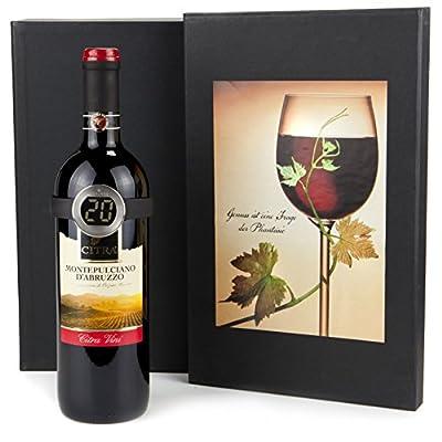 Geschenkset Weinthermometer & Rotwein