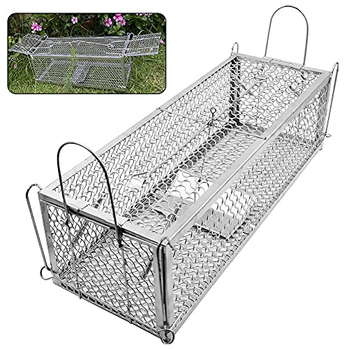 Lulu Home Dual-Door Mouse Trap Cage, Humane Live Cage Trap for Rat...