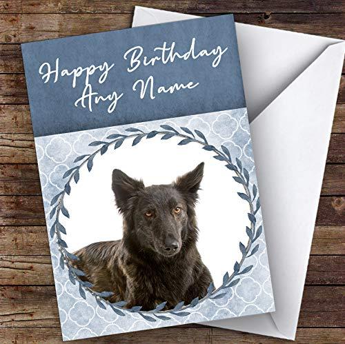 Hollandse Herdershond Blauw Dier Gepersonaliseerde Verjaardagskaart