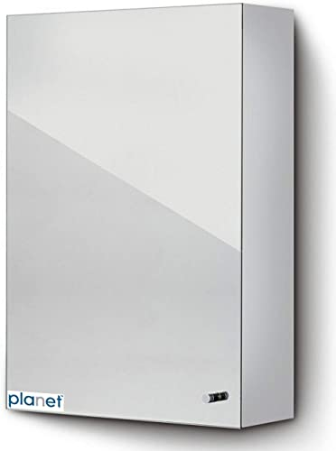 Planet Platinum 304 Grade Stainless Steel Bathroom Cabinet with mirror door/Bathroom Accessories(Chrome Finish) product image