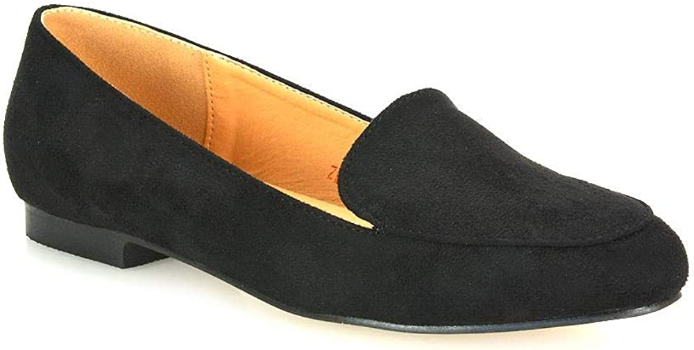 ESSEX GLAM Womens Slip On Loafers Ladies Flat Mocassins Smart Slippers Pumps Shoes