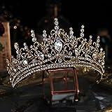 RUK Crystal Nupcial Tiara Corona Grande Diamantes de imitación Concurso de Belleza Diadema Nupcial Accesorios para el Cabello de Boda
