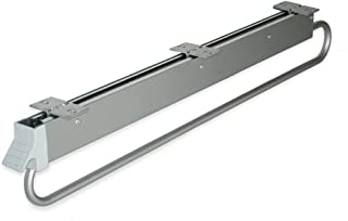 Emuca - Wardrobe Pull Out Clothes Hanger Rail, Sliding Hanging Rail with Lenght 800mm
