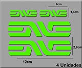 Ecoshirt 26-3DDL-HUC9 Pegatinas Enve R39 Vinilo Adesivi Decal Aufkleber Клей MTB Stickers Bike, Verde