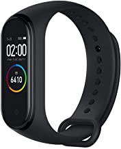"""Original Xiaomi Band 4 (Global Version) Fitness Tracker Newest 0.95"""" Color AMOLED Display Bluetooth 5.0 Smart Bracelet Heart Rate Monitor 5 ATM Waterproof Android & iOS with 135mAh Battery up to 20 Days Activity Tracker (Black)"""