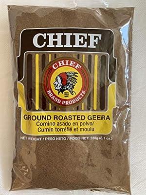 Chief Roasted Geera Ground Cumin Seeds 230g, 8.1 Oz