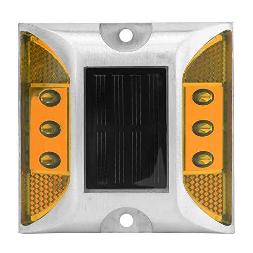 wosume Luces de Tierra, diseño de energía Solar Que Ahorra energía Lámpara de Tierra Duradera, Distancia de visualización recargada Libro de Lectura Escolar Oficina para el(Yellow)