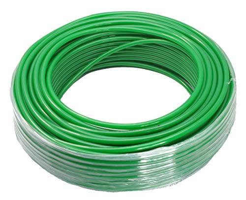 Manguera de teflón neumática (teflón, 12 x 10 mm, 100 m), color verde