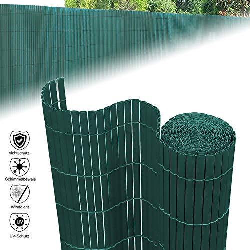 Aufun Sichtschutzmatte PVC 120x500cm - Sichtschutzzaun Braun Windschutz fur Garten Balkon und Terrasse (120x500cm,Grün)