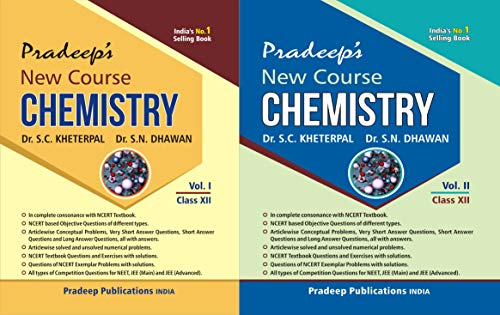 Pradeep's New Course Chemistry for Class 12 (Vol. 1 & 2) Examination 2020-2021