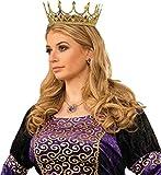 Forum Novelties 76046 Royal Queen Crown, Standard, One Size, Gold