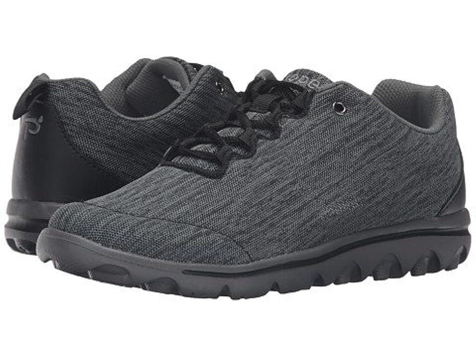 汗再生調整する(プロペット)Propet レディースウォーキングシューズ?カジュアルスニーカー?靴 TravelActiv Black/Grey Heather 8.5 25.5cm XX (4E) [並行輸入品]