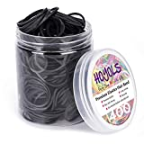 """1 1/2"""" Inches Large Elastics Rubber Bands for Black Hair Ties Braiding Ponytail Holders Plastic Rubberbands for Women Girls Black Hair Crafts Office Supplier Money No Damage for 400pcs (L) by HOYOLS"""