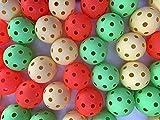 Realstick - Pelota de floorball (24 unidades), colores variados