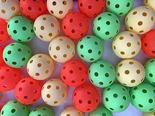 Realstick Floorball Unihockey Ball 50er Team Set Color Mix   Wettkampfball Trainingsball mit IFF Zertifikat für geprüfte Qualität