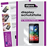 dipos I 2X Schutzfolie klar kompatibel mit Motorola Razr HD Folie Bildschirmschutzfolie