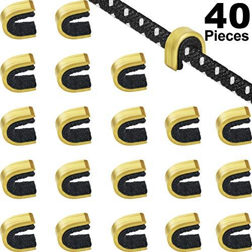 Gejoy 40 Piezas Puntos de Encocar Puntos de Encoque de Cadena de Tiro al Arco Clip de Hebilla de Cuerda de Arco para Arco Compuesto y Recurvo