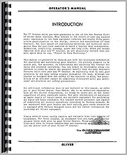 Oliver 77 Tractors Operators Manual