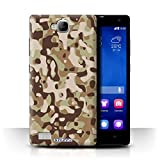 Stuff4 Phone Case for Huawei Honor 3C Camouflage Army Navy