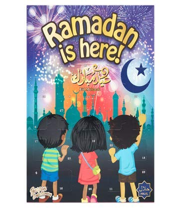 Calendario de Adviento Ramadan con cuenta regresiva de chocolate Halal 100 gramos Eid Mubarak para niños y niños