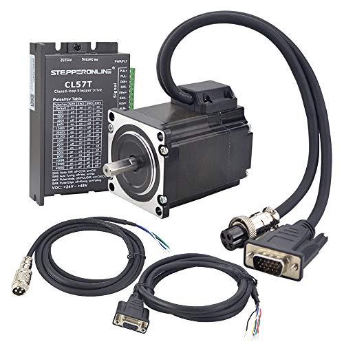 STEPPERONLINE 1 asse Closed Loop Motore passo-passo 1,2 Nm 1000CPR Nema 23 Stepper motore e motore passo-passo driver 0-8,0A 24-48 VDC per macchina per incisione CNC