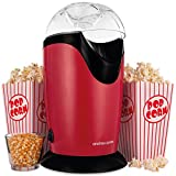 Andrew James Classic Popcorn Maker Machine | 8 Retro Style Popcorn Boxes | Makes Delicious Low Fat Snacks | 1200W | Red (Red)