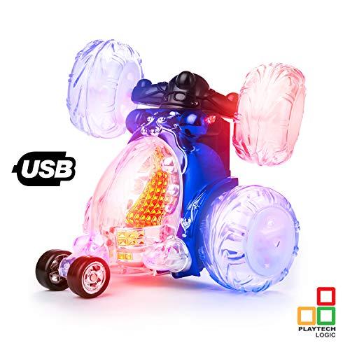 Playtech Logic Invincible Tornado 360 - Coche teledirigido con control remoto para niños, con luz, sonido de encendido/apagado, color al azar , color/modelo surtido