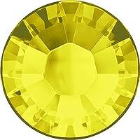 スワロフスキー(Swarovski) クリスタライズ ラインストーン 【ホットフィックス】布用スワロ (SS6(約2mm)50粒入, シトリン)