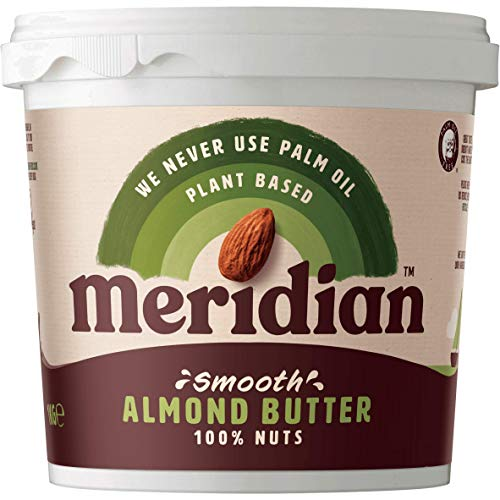 Meridian Smooth Almond Butter 1kg - Vegan Friendly, Free From Palm Oil, Made With 100% Nuts